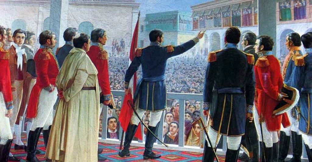 San Martin proclaims independence in Lima